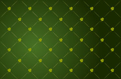 Vector clover background for St. Patricks Day stock photos