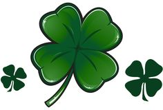 Vector clover leaf Stock Photos