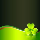 Vector clover leaf Stock Photography
