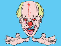 Vector clown. With a freak look Royalty Free Stock Image