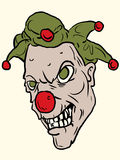 Vector clown. With a freak look Royalty Free Stock Photos