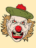 Vector clown. With a freak look Stock Image