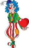 Vector clown and hearth Royalty Free Stock Photos