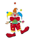 Vector clown juggler. Vector clown juggling with balls Royalty Free Illustration