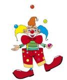 Vector clownjuggler Stock Foto