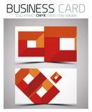 Vector CMYK business card design template Stock Photos