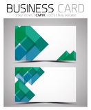 Vector CMYK business card design template Royalty Free Stock Photography