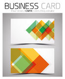 Vector CMYK business card design template Royalty Free Stock Image