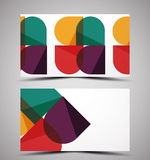 Vector CMYK business card design template Stock Images