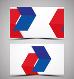 Vector CMYK business card design template Royalty Free Stock Images