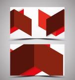 Vector CMYK business card design template Stock Photography