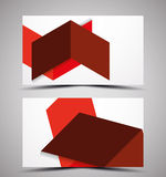Vector CMYK business card design template Stock Image