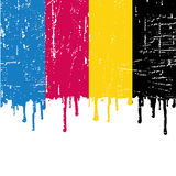 Vector CMYK paint Royalty Free Stock Photos