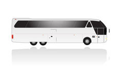 Vector coach with text space Royalty Free Stock Photography