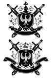 Vector coat of arms. Vector coat of arms isolated on white background Stock Photography