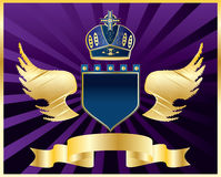Vector coat of arms. Coat of arms with wings,vector Royalty Free Illustration
