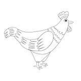 Vector cock for coloring book. Vector sketchy cock for coloring book Stock Photo