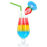 Exotic cocktail glass with strawberry Royalty Free Stock Photo