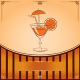 Vector cocktail glass with orange Royalty Free Stock Photo