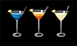 Vector cocktails Stock Photos
