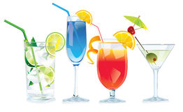 Vector cocktails stock illustration