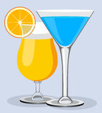 Vector cocktails. Cocktail summer design background Royalty Free Stock Photos