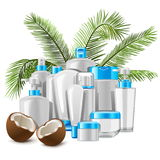 Vector Coconut Cosmetics Royalty Free Stock Images