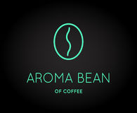 Vector Coffee Accessories Icon with Letter Sign. Can be used as Logotype Stock Image