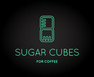Vector Coffee Accessories Icon. With Letter Sign can be used as Logotype Stock Photography