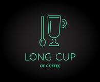 Vector Coffee Accessories Icon with Letter Sign. Can be used as Logotype Royalty Free Stock Images