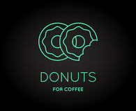 Vector Coffee Accessories Icon with Letter Sign. Can be used as Logotype Stock Photos