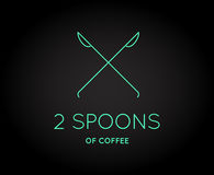 Vector Coffee Accessories Icon with Letter Sign. Can be used as Logotype Royalty Free Stock Photos