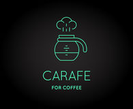 Vector Coffee Accessories Icon with Letter Sign. Can be used as Logotype Royalty Free Stock Photo