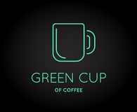 Vector Coffee Accessories Icon with Letter Sign. Can be used as Logotype Royalty Free Stock Photography