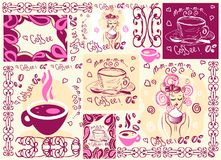 Vector coffee background wallpaper Royalty Free Stock Image