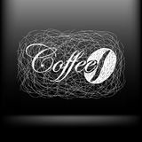 Vector coffee background for your design Stock Photos