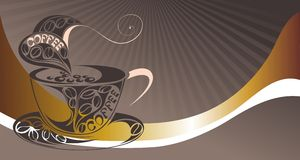 Vector coffee background for your promotion. Stock Photos