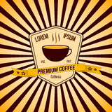 Vector coffee banner and logo with background Royalty Free Stock Photo
