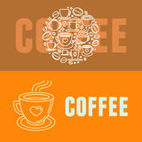 Vector coffee banners Stock Images