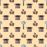 Vector coffee barista seamless pattern Stock Photos