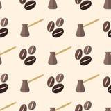 Vector coffee barista seamless pattern Royalty Free Stock Photos