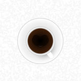 Vector coffee cup against background Stock Photos