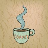 Vector coffee cup background Stock Image