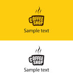 Vector coffee cup logo design Royalty Free Stock Images