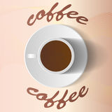 Vector coffee cup and saucer Royalty Free Stock Photos