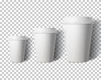 Vector Coffee Cup Set  on Transparent PS Style Backgroun. Illustration of Vector Coffee Cup Set  on Transparent PS Style Background. Photorealistic 3D Vector Royalty Free Stock Images