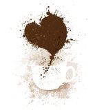 Vector coffee cup. Royalty Free Stock Images