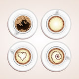 Vector coffee cups Royalty Free Stock Images