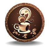Vector coffee design with grains Royalty Free Stock Images