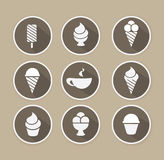 Vector coffee and desserts icon. Royalty Free Stock Photos